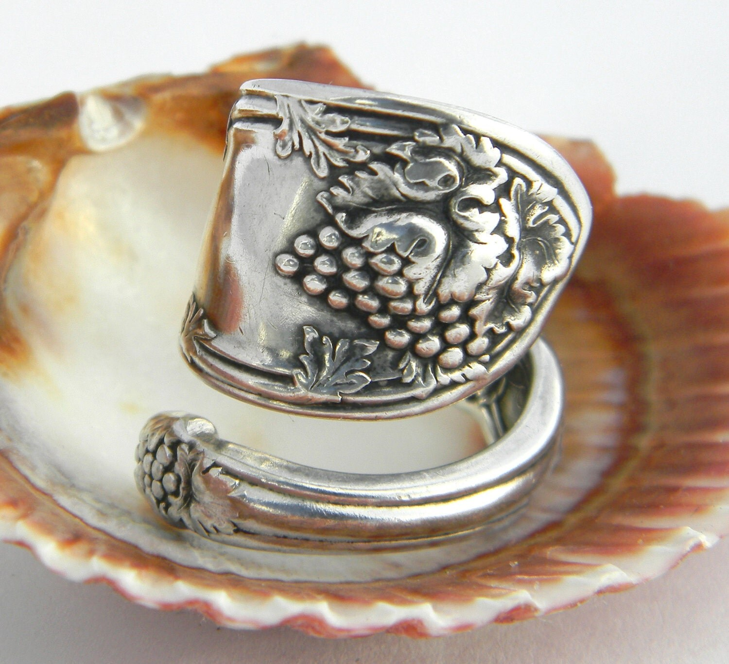 spoon ring antique silverware jewelry la vigne 1908