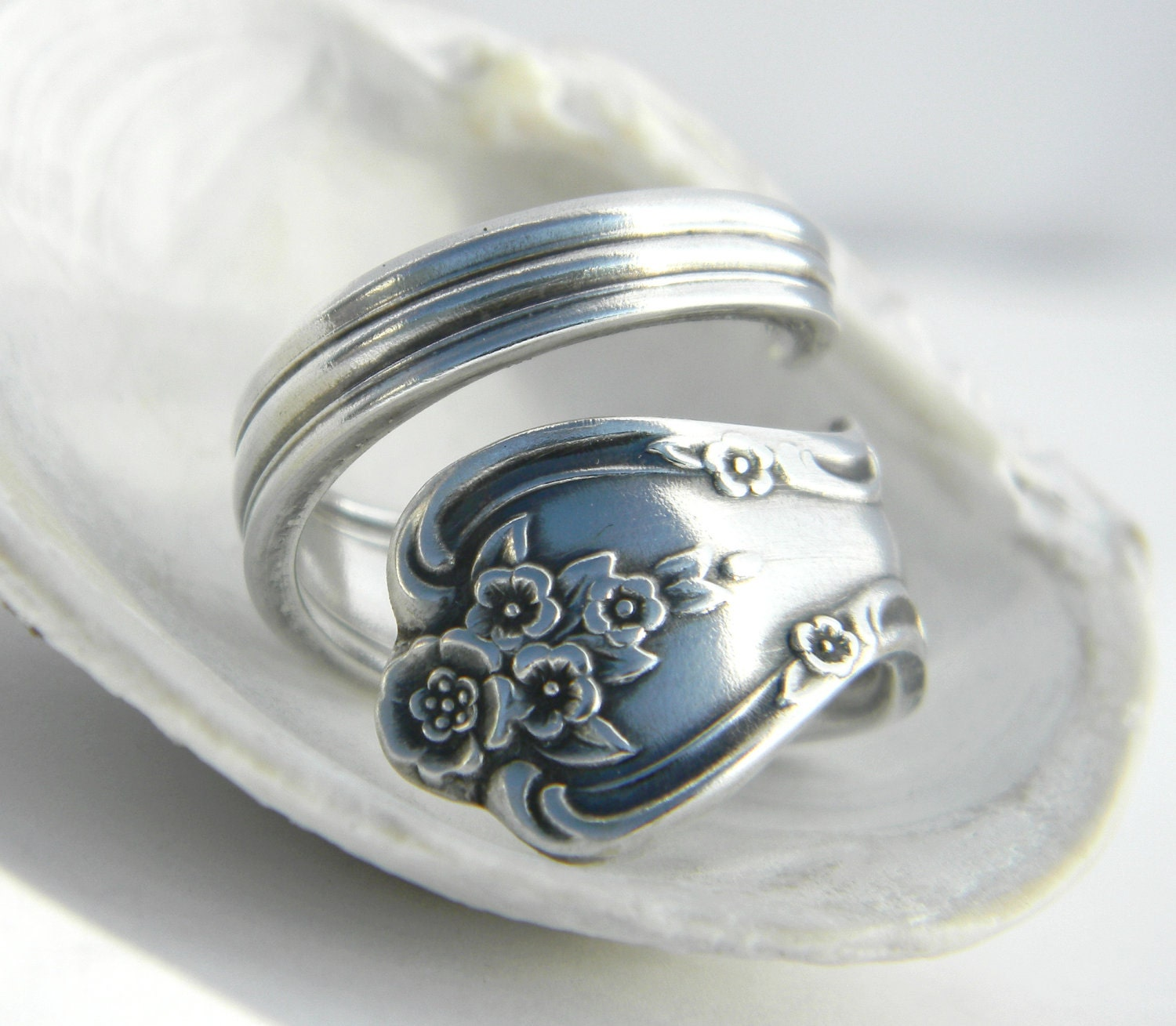 vintage spoon ring magnolia inspiration 1951 silverware