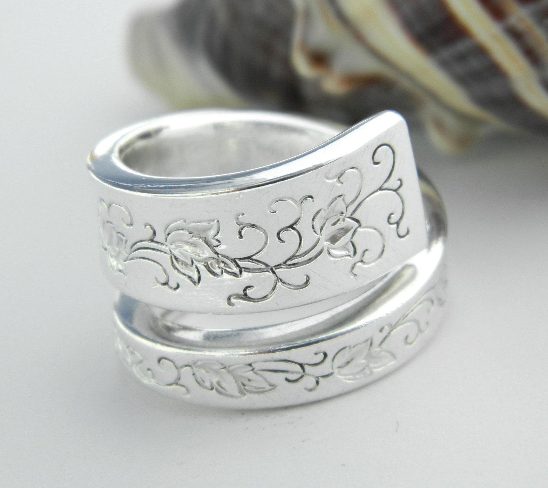antique silver spoon ring silverware by californiaspoonrings