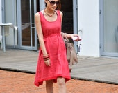 ON SALE 71% OFF Red Sundress Watermelon Red Cool Vest Dress - NC034