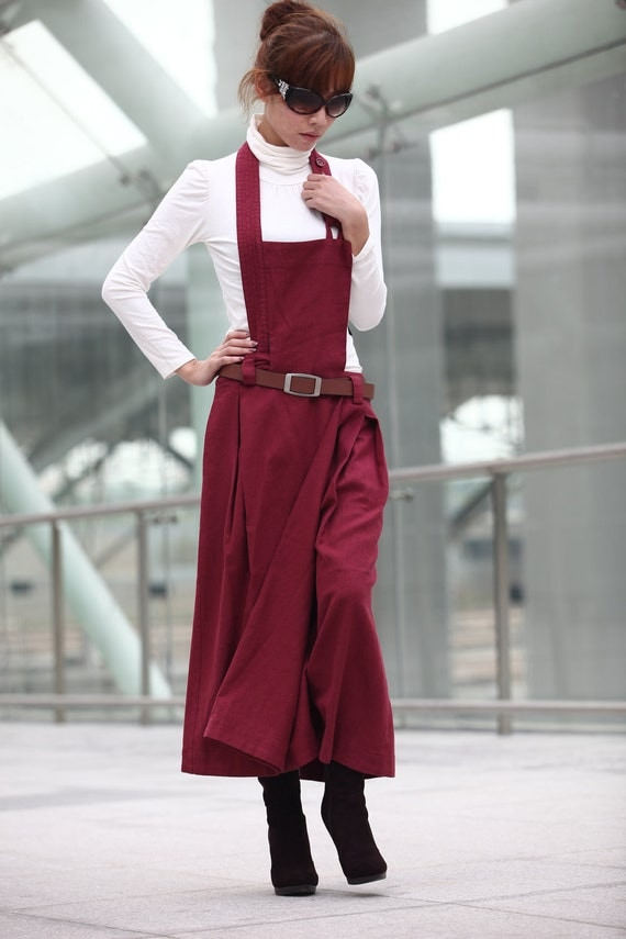 ON SALE 55% OFF Graceful Magneta Colour Strap Long Skirt-NC215
