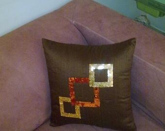 Pillow Geometric sequin