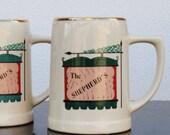 Vintage Irish Pub Beer Mug, One Pint Pottery Advertising Stein