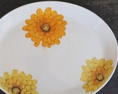 English Ironstone Platter Plate, Johnson Bros Large Chrysanthemum Flowers, Vintage Dinnerware