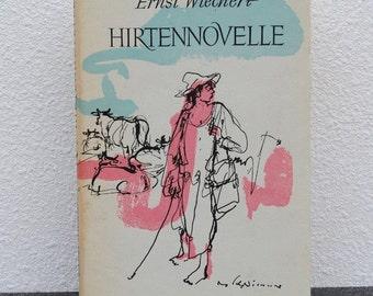 "1963 Ernst Wiechert ""Hirtennovelle"" Hardcover Collectible German Novel, Dust Jacket, Printed in Germany"
