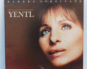 Yentl Jewish Musical Original Movie Soundtrack, Barbra Streisand LP Record Album, 1983 Vintage