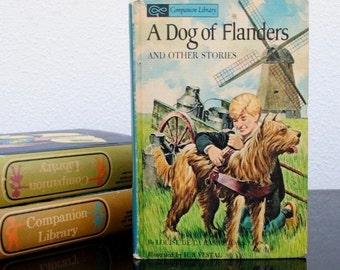 Vintage Childrens Book, Flip Storybook, Boys Room Decor, Tom Sawyer & A Dog of Flanders, 1965 Illustrated Hardcover