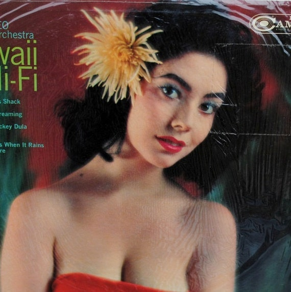 1950s Hawaiian Pin Up Girl Cover Art Hawaii Hi Fi Vinyl Lp