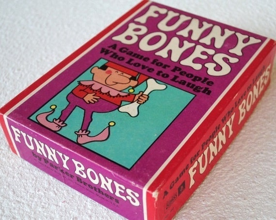 """Vintage Party Game Couples Adults, 1960s Parker Brothers """"Funny Bones"""""""