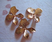 ORCHID Links Pendants Connectors Charms, 2 pcs, 15x15 mm, Rose Gold Plated Brass Medium .OMR..