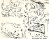 """My Pet Hamster - Vintage Matted/Mounted Book Illustration 6"""" x 8"""" - Ready to Frame"""