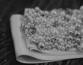 Wedded Bliss - Beautiful, Custom-made, Pearl, Crystal and Rhinestone hand-beaded wedding sash, bridal sash