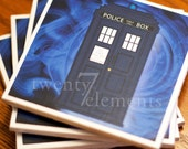 Doctor Who Tardis Drink Coasters Set of 4