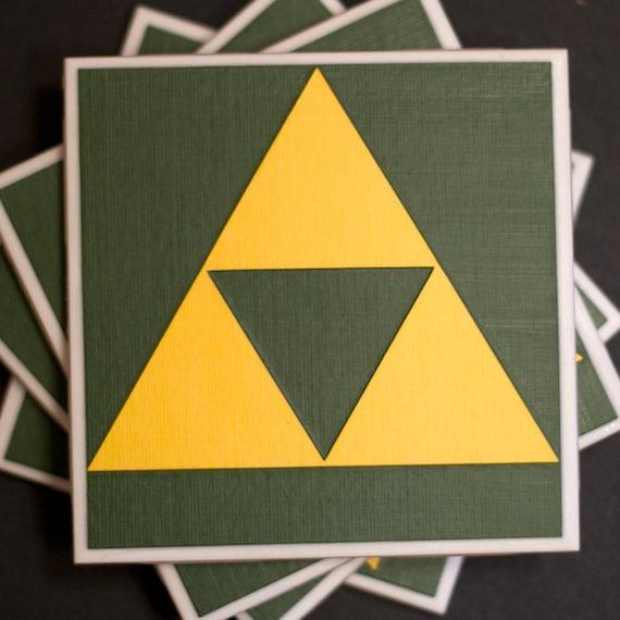 Nintendo Zelda Triforce Drink Coaster Set of 4