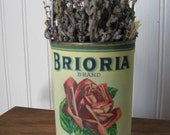 Upcycled Vintage Can with Hangar and Dried Lavender / Cottage Farmhouse Kitchen