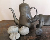 Pewter Teapot or Coffee Pot Dutch Rustic style Decorative