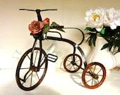 Vintage  Bicycle  Decor Toy Wood Metal