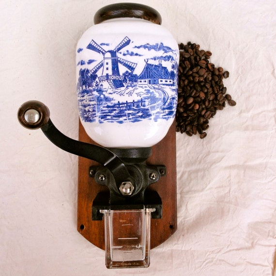 Wall Mounted Grinder ~ Items similar to vintage coffee grinder wall mount dutch