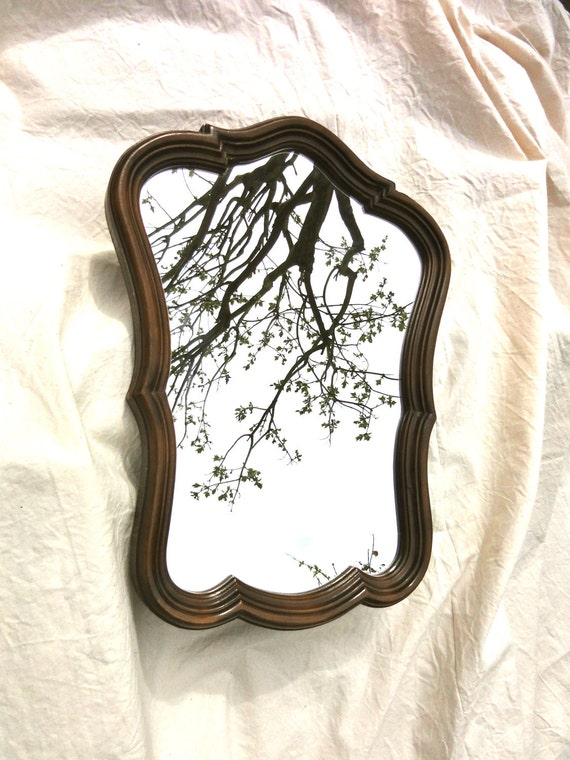Vintage Wall Mirror in Regency Style with Wooden Frame