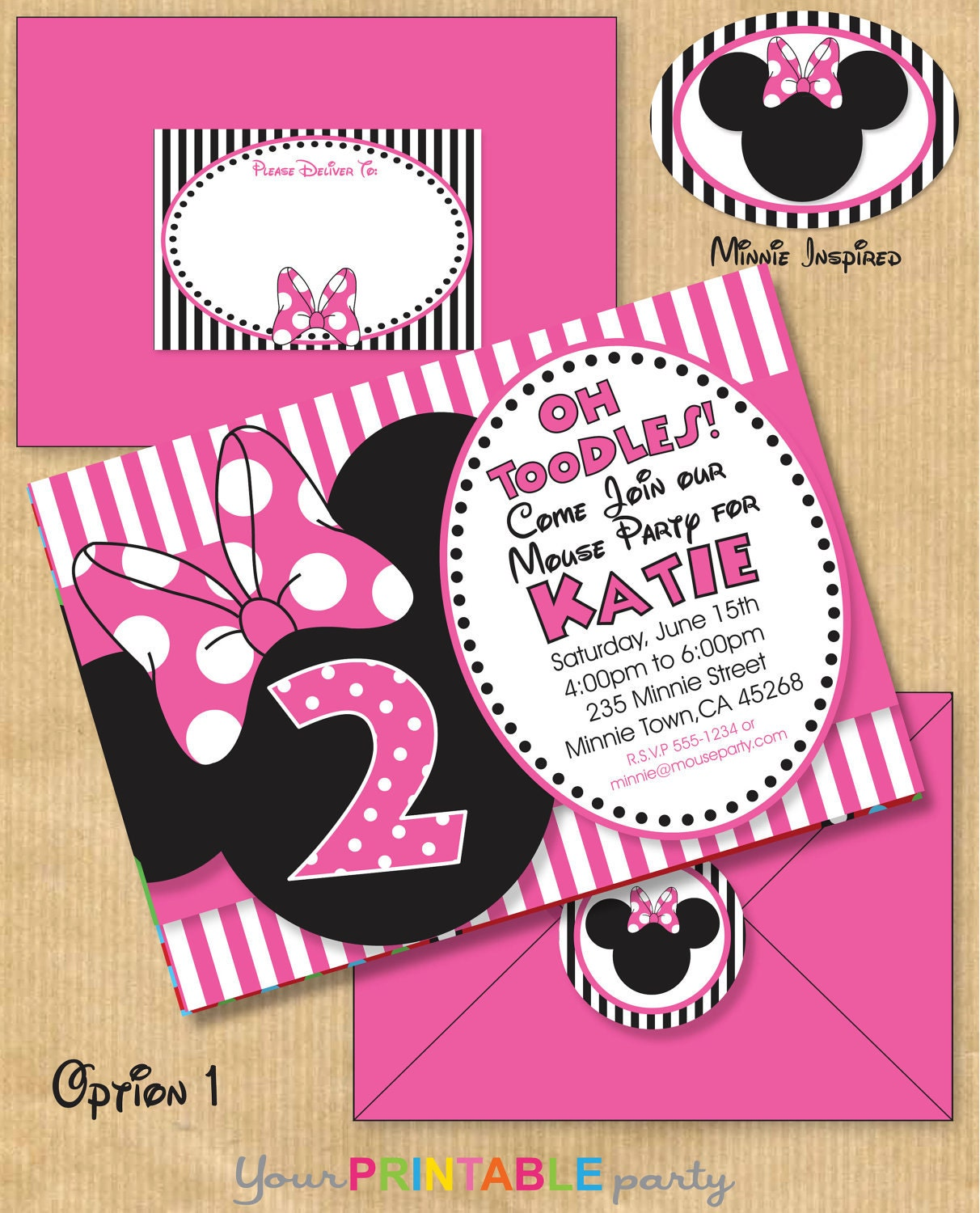 Minnie Mouse Inspired Birthday Party By YourPrintableParty