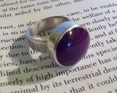 Funky Sterling Silver Purple Ring