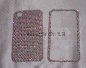 Custom Genuine Swarovski Crystal Iphone4/4s and Iphone 5 Cell Phone Case in Solid AB Crystals
