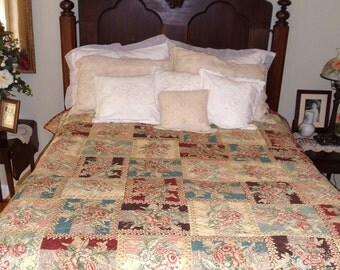 PRIMROSE QUILT  75x95     Ready to ship