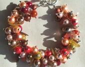 Charm Bracelet in Autumn Fall Colours
