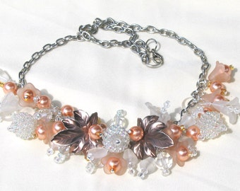 Wedding Necklace Apricot Delight
