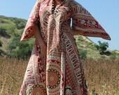 L/XL GoldDust Woman Vintage Indian Bohemian One of a Kind Circa Bohemian Handmade Dress