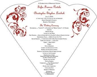 SET OF 25+ Vintage Vines & Scrolls Design Wedding Fan custom colors available
