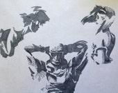Cowboy Bebop gray scale drawing