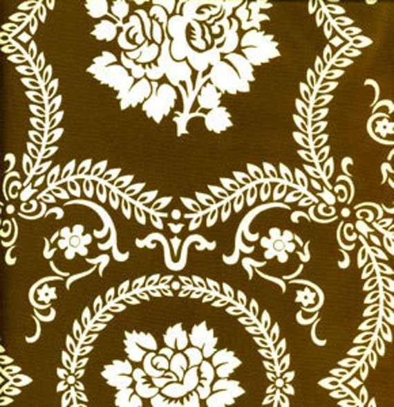 Jennifer Paganelli- Casey Scroll in Brown- Sis Boom Collection- Free Spirit- 1 Yard