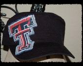 Texas Tech Cadet Cap w/ Rhinestone Accents - Black