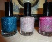 Peacock, Sugar Cube and Orchid Custom Three Pack : Custom-Blended Nail Polish