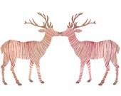 Deer Heart Greeting Card