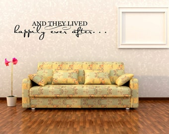 And they lived happily ever after - Wall Sticker - Wall decal
