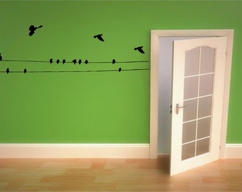 Wall Decals - Great birds on Wires decal