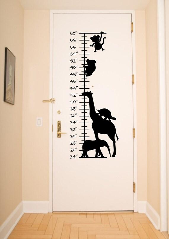 Kids Growth Chart with An Animal theme    designwithvinyb335f9