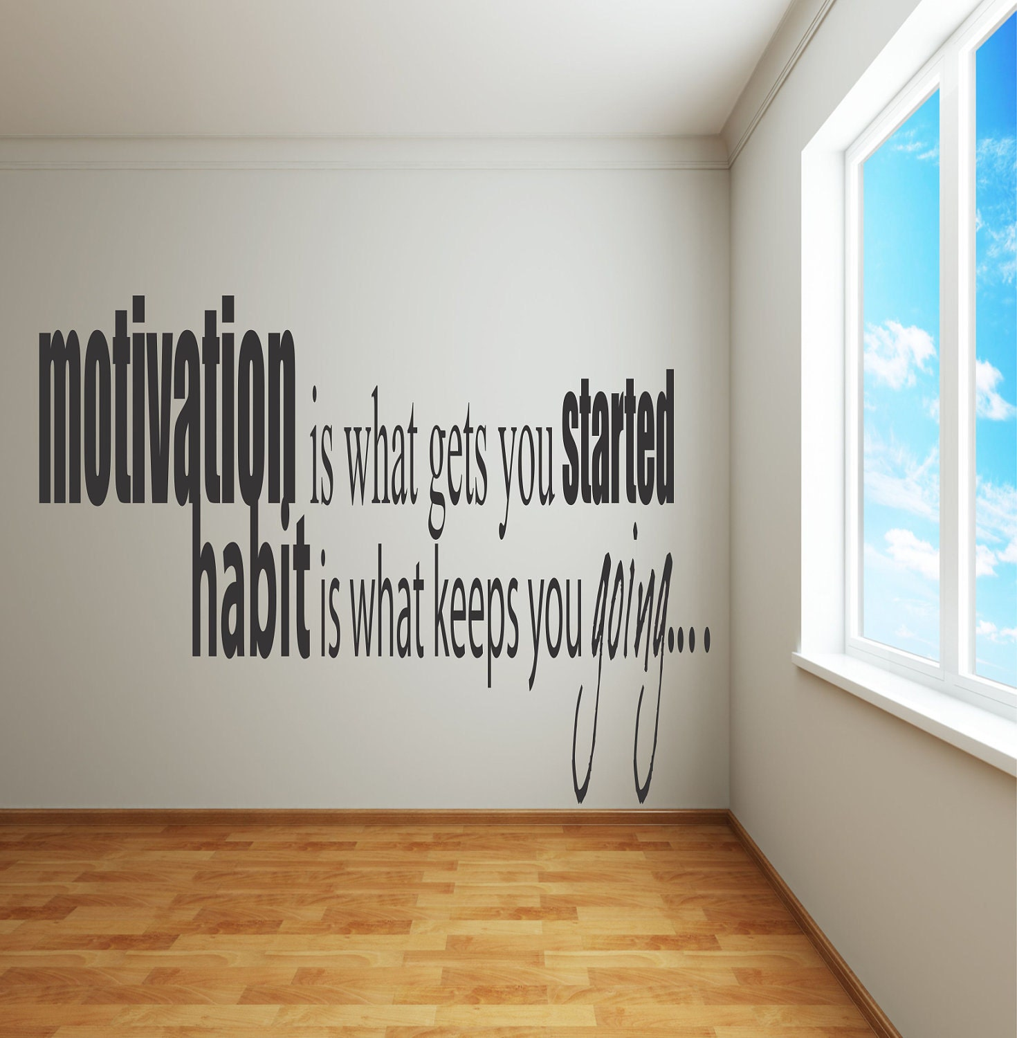 Adhesive Wall Decals Motivation Is What Gets You