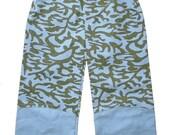 Boys Pants Jeans 4T 5T Blue Green Euro European Handmade Farbenmix Custom possible