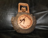 Wooden brown funny special hand bag - free shipping