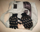 Knit Mittens that convert into Fingerless Gloves - free shipping