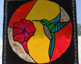 HummingBird Specialized Window Cling Art