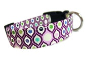 Perfectly Plum Dog Collar - PARISIAN PLUM is Available in All Sizes - Light Purples and Plums in an Art Deco Style