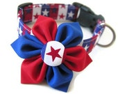 STAR SPANGLED Collar and Bow Set - Available in All Sizes