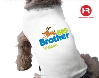 Dog Big Brother Dog Shirt - Pregnancy Announcement Dog Shirt