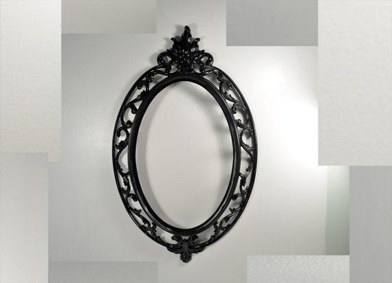 Vintage Oval Ornate Black Wall Frame