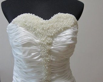 Sweetheart Pearls beaded Wedding Dress
