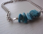 Chain with Turquoise Chip Beads